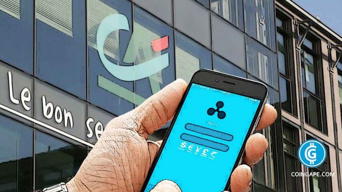 Crédit Agricole Bank To Test Ripple Blockchain Money Transfer