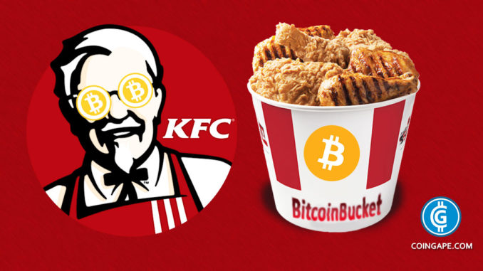 KFC canada accepting bitcoin as payment