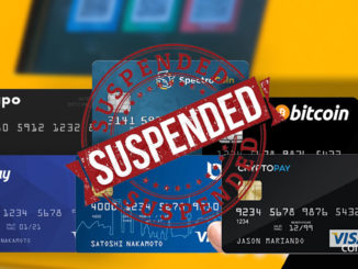 bitcoin debit cards suspended