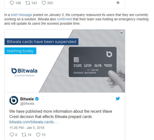 suspension of bitcoin debit cards