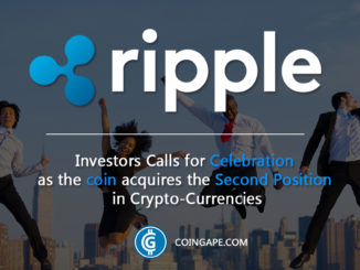 Ripple coin acquires the Second Position in Crypto-Currencies