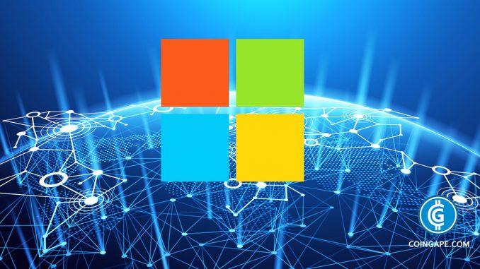Microsoft Blockchain: A Decentralized Blockchain Based Digital Identity Platform