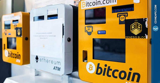 bitcoin atm kaina