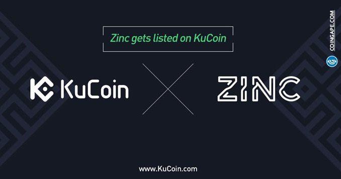 kucoin listed zinc