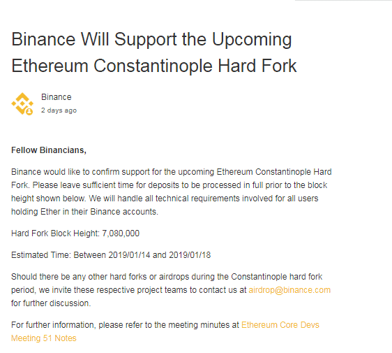 "Ailing Ethereum Receives a Boost, Huge Community Support for Upcoming Hard Fork ""Constantinople"""