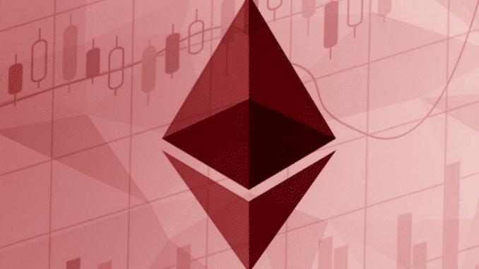 Ethereum price down