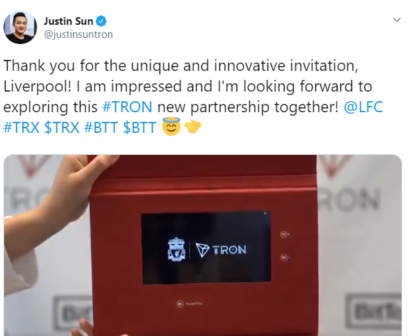 Justin Sun new partnership