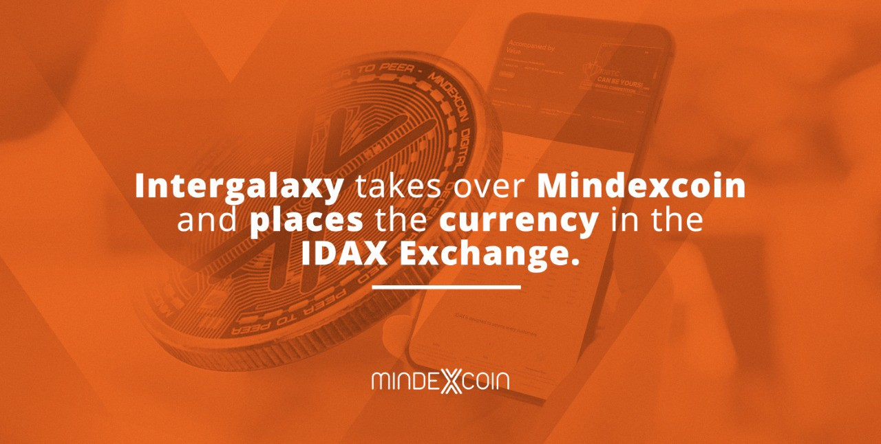 Intergalaxy takes over Mindexcoin and places the currency in the IDAX Exchange.