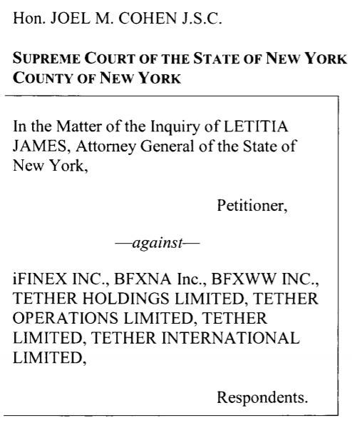 US Tether case
