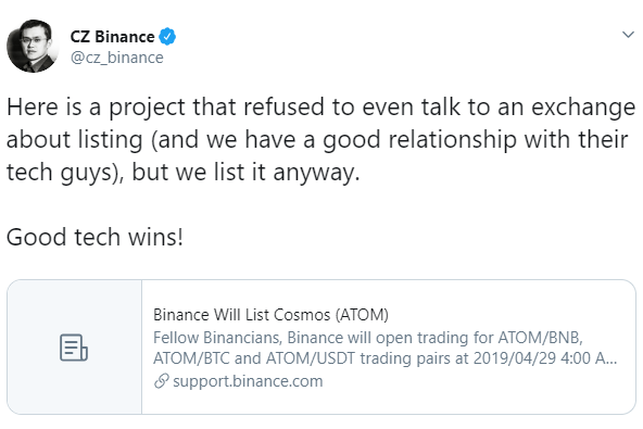 CZ-Binance