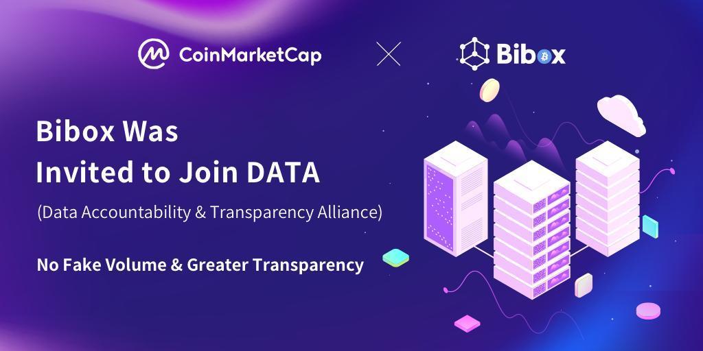 CoinMarketCap Transparency Alliance, DATA, Grows Larger, Bibox Exchange a Member Now