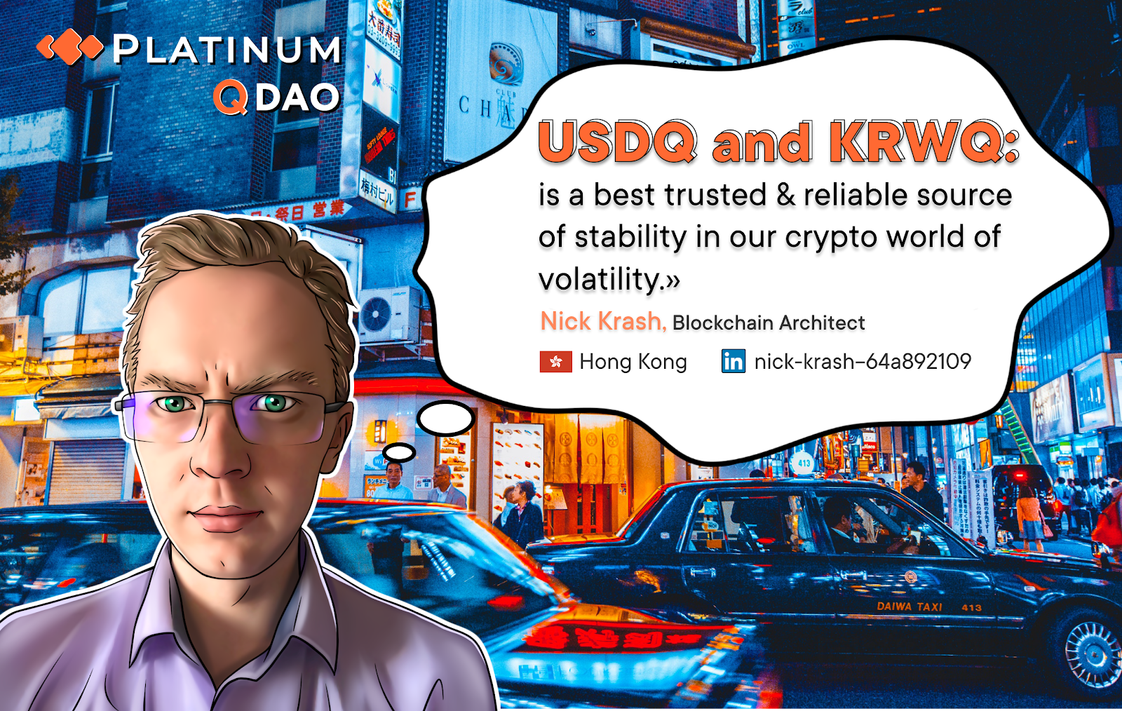Obtaining real stablecoins  USDQ and KRWQ: Ecosystem of Q DAO stablecoins is being developed in counterweight to BitFinex`s Scammy Tether. Trade'em all on BTCNEXT.io
