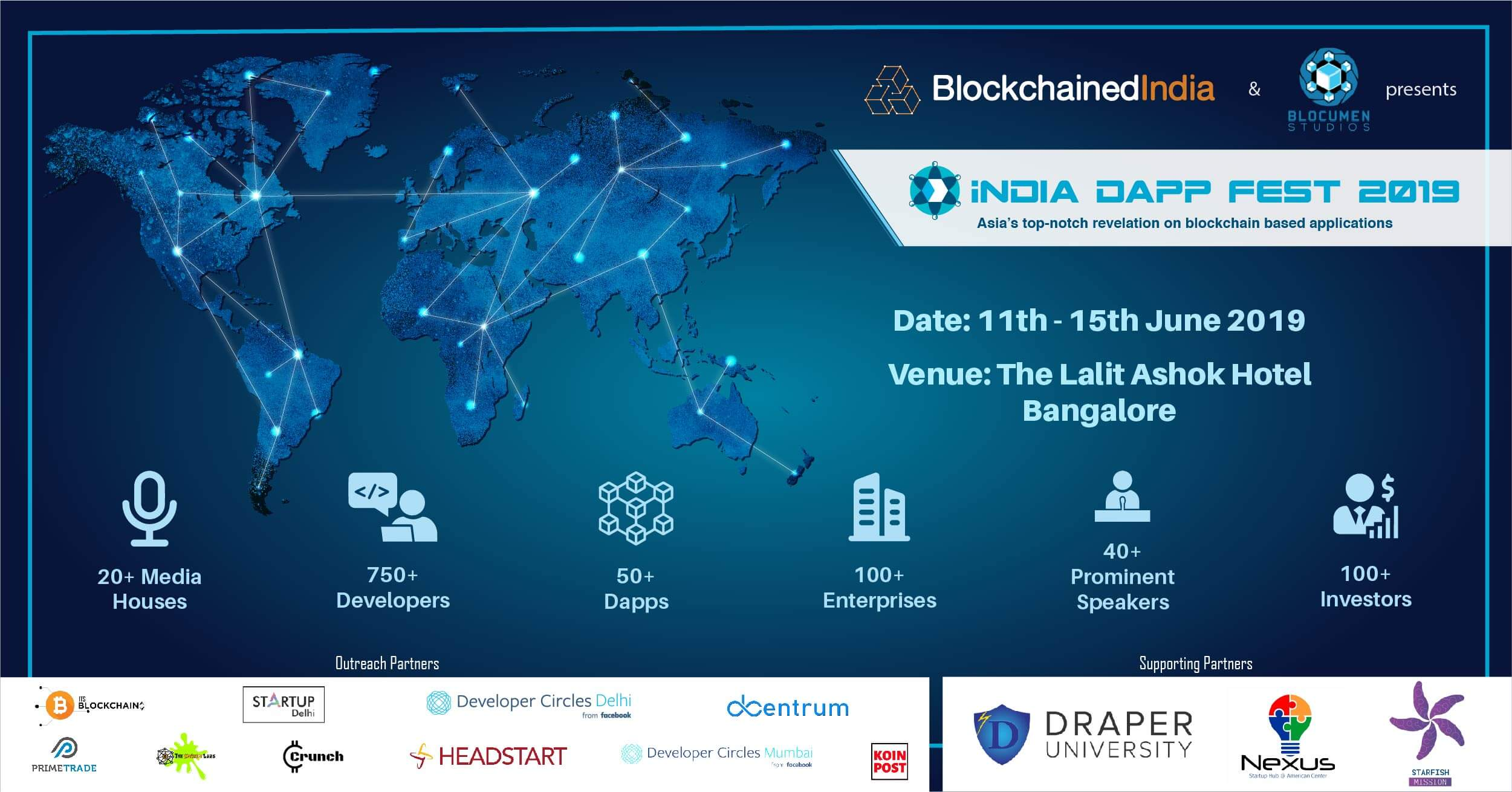 India Inches Closer To Biggest Blockchain Conference 'The India Dapp Fest 2019'