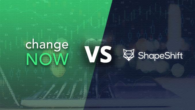 ChangeNow vs Shapeshift – Which One is Right for Me?