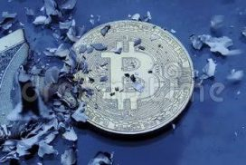 Image of Bitcoin withstanding the heat while USD burns out