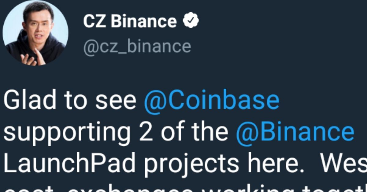 Coinbase Trolls Binance by Considering Support for Launchpad Projects But Not BNB