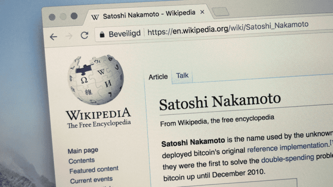 Big reveal. Is the real Satoshi Nakamoto about to stand up?