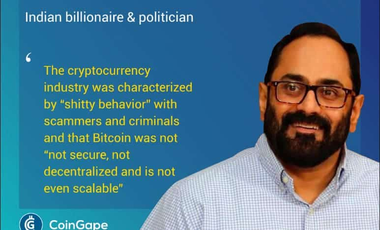 Indian Govt Will Come a Little Late to the Crypto Party Says Indian Billionaire & Politician