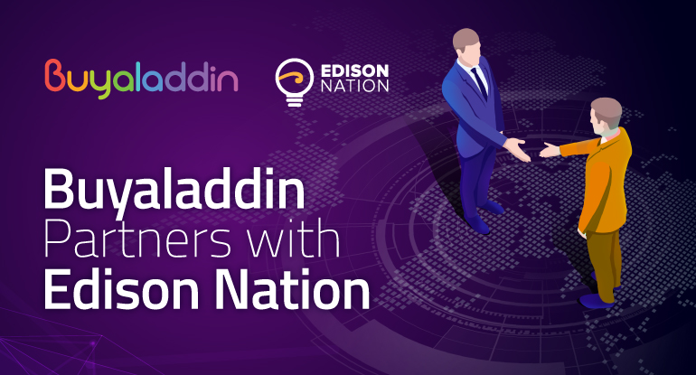 Buyaladdin, the crypto e-commerce platform partners with Edison Nation