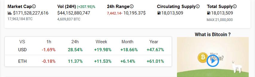 Bitcoin (BTC) Stats