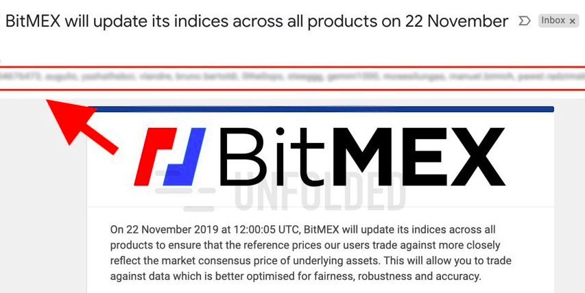 BitMEX Exposes the Email Addresses of Thousands of Users in its Email Announcement