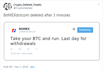 BitMEX Twitter Account Compromised, Exchange Assures Funds Safe