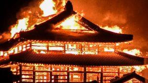 Shuri castle burnt in Fire