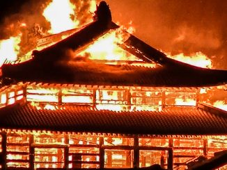 Shuri castle burnt in Fire