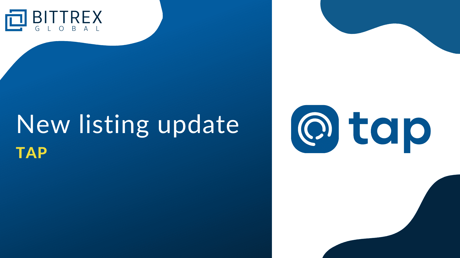 tap, the first one-stop-shop crypto app lists on Bittrex on 23rd Dec