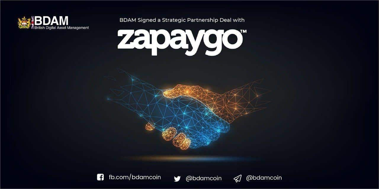 BDAM Announces Partnership with Zapaygo.com to increase liquidity and crypto acceptability