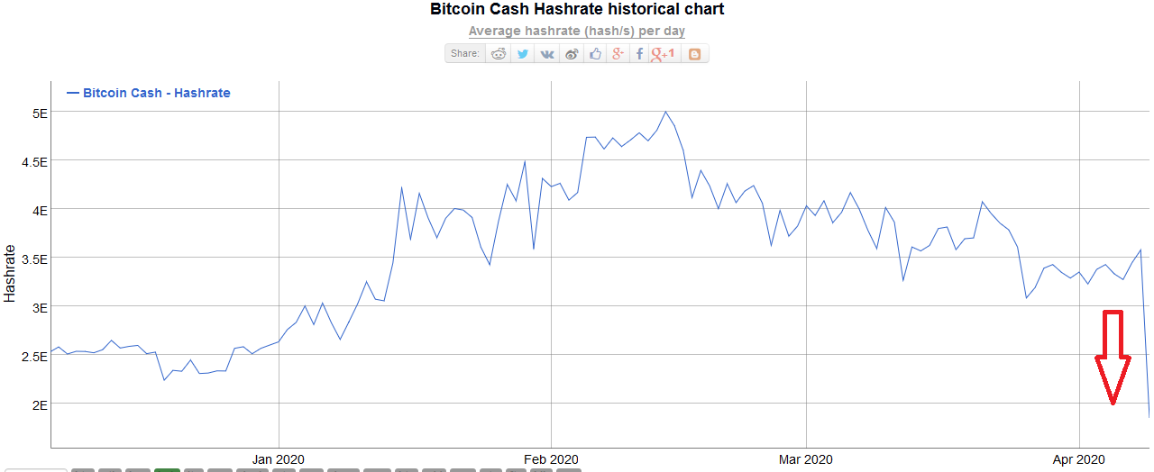Bitcoin Cash BCH Hash Rate