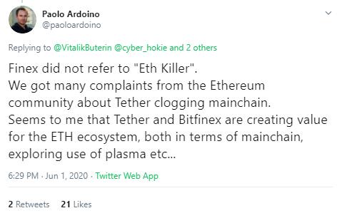 """""""OMG Is Not Ethereum Killer"""" Vitalik On Tether's [USDT] Migration To OMG Network"""