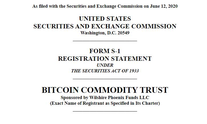 nộp quỹ ủy thác hàng hóa bitcoin