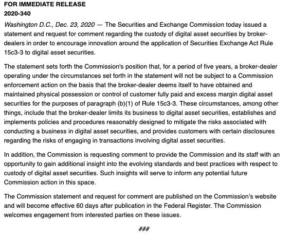 SEC press release crypto brokers