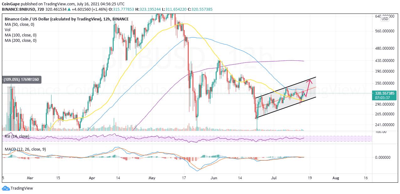 BNB/USD price chart